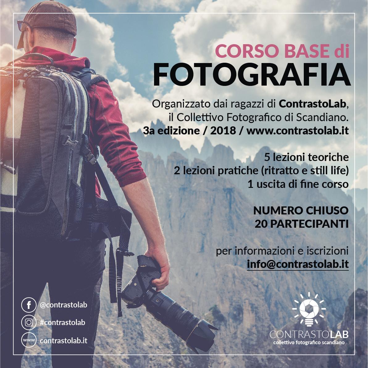 2018 09 Corso di fotografia